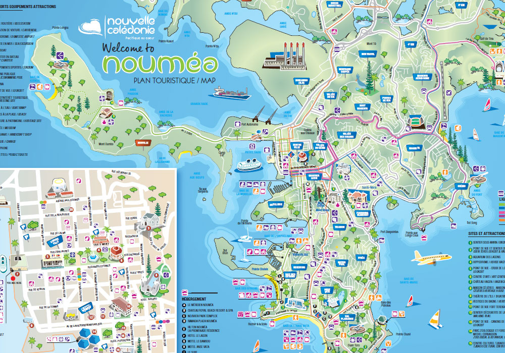 Map of Nouméa